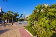 Nice walking areas of Nicolas Salmeron Park Almeria, Spain Royalty Free Stock Images