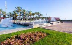 Nice walking areas of Nicolas Salmeron Park Almeria, Spain Stock Photo