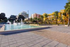 Nice walking areas of Nicolas Salmeron Park Almeria, Spain Stock Photos