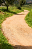 Nice walking road Stock Images