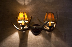 Nice wall lamps. Beautiful wall lamps in a hotel stock images