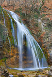 Nice waterfall in autumn forest Stock Photo