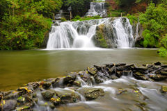 Nice waterfall in autumn forest Royalty Free Stock Images