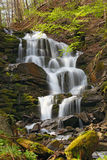 Nice waterfall in Carpathian mountains Royalty Free Stock Photography
