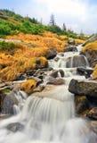 Nice waterfall in Carpathians Royalty Free Stock Photos