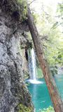 Waterfall in Plitvice royalty free stock photography