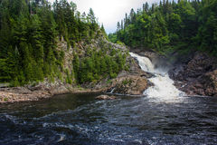 Nice waterfall in the forest. Of canada Royalty Free Stock Image