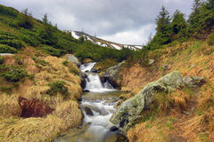 Nice waterfall in mountains Royalty Free Stock Photo