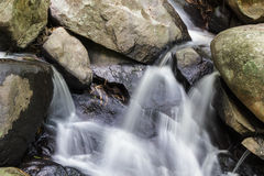 Nice waterfall in sunny day. Royalty Free Stock Image