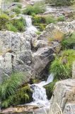 Nice waterfalls following each other over granite Stock Photo