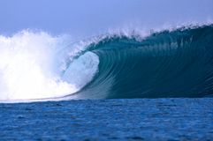 Nice wave. A nice wave breaking in Samoa Stock Photos
