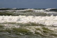 Nice waves. Ocean waves crashing to shore along coastline royalty free stock photography