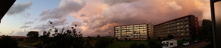 Really nice weather. Cool storm weather in Zandvoort Royalty Free Stock Photos