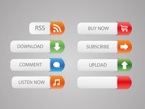 Nice web buttons Royalty Free Stock Photography