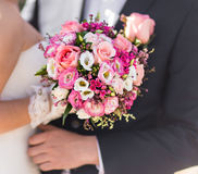 Nice wedding bouquet in bride's hand Stock Photography