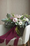 Nice wedding bouquet in room Stock Photography