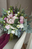 Nice wedding bouquet in room Royalty Free Stock Images