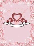 Nice wedding love heart illustration Royalty Free Stock Images