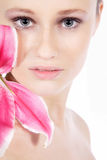 Nice wellnes face very close up Stock Images