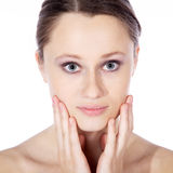 Nice wellnes face very close up Royalty Free Stock Photography