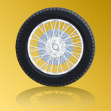 Nice wheel with spokes for old car bugatti. Stock Photos