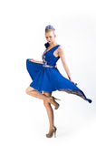 Nice whirling girl in bright dress Royalty Free Stock Images