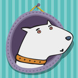 Nice white a bull terrier. The nice person white a bull terrier an illustration Stock Images