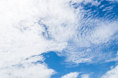 Nice white cloud on the sky Royalty Free Stock Photos