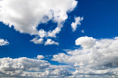 Nice white clouds over blue and azure sky Stock Photography