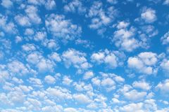 Nice white-snow small clouds in the sky Stock Image