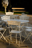 Table with chairs Royalty Free Stock Photos