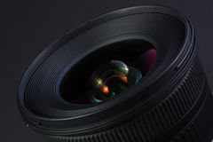Nice wide angle lens. With colorful reflections Stock Photo