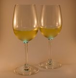 Nice wine glasses Stock Photos