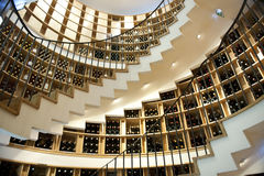 Winery in Bordeaux. Wine shop in Bordeaux with winding staircase stock photography