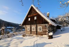 Nice winter cottage Royalty Free Stock Images