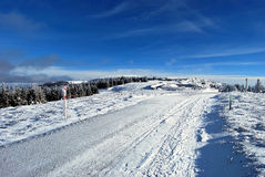 Nice winter day in Fischbacher Alpen in Styria with blue sky Royalty Free Stock Images