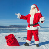 Nice winter day, a good Santa Royalty Free Stock Images