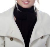 Nice winter smile. Nice girl with winter coat. Lens: Sigma 70-200 APO EX Stock Photography