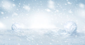 Nice winter snow background with copyspace Royalty Free Stock Image