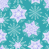 Nice winter snowflake set. Vector seamless pattern. Stock Photo