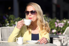 Nice woman and coffee break Royalty Free Stock Photo