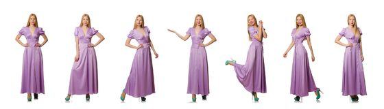 The nice woman in fashion clothing - composite image Royalty Free Stock Photo