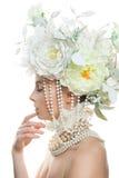 Nice Woman Fashion Model with Makeup Stock Image