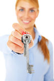 Girl with key Royalty Free Stock Photo