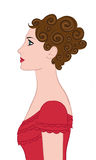 Nice woman profile Stock Image