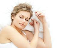Nice woman relaxing Royalty Free Stock Photo