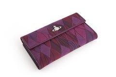 Nice woman's textile wallet Stock Photos