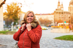 Nice woman on the street Stock Photo