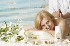 Nice woman went to resort Royalty Free Stock Images