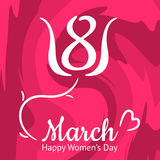 Nice Women s Day greeting card, 8th March Royalty Free Stock Photo